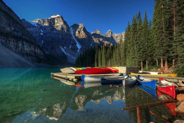 Canoeing banff
